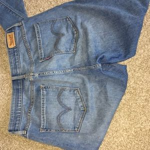 Levi's! Blue straight and stretchy jeans